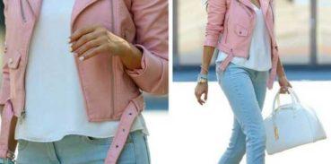 Стильня розовая женска курткакожаная курткакосухакуртка пилот под джинсы