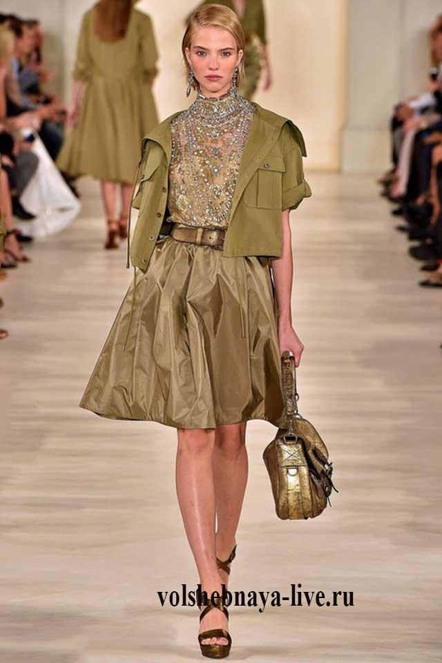 Крутой образ с юбками цвета хаки