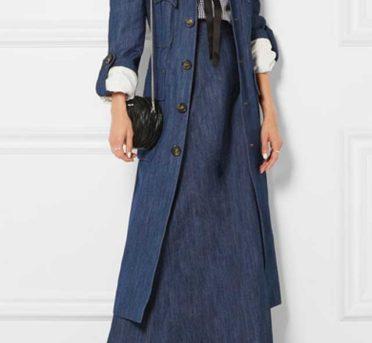 С чем носить джинсовое платье