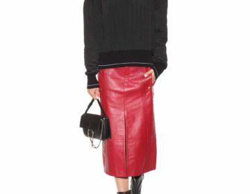 С чем носить кожаную юбку карандаш и выглядеть эффектно!