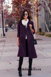 Образ с бордовым пальто