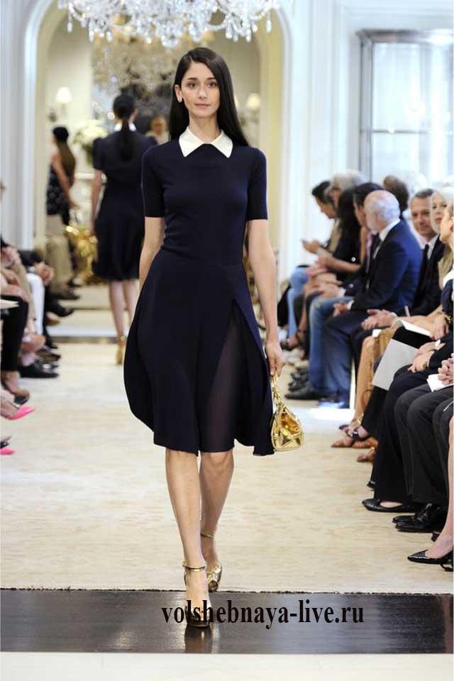 815d12bff85 Черное платье с пышной юбкой и воротником белого цвета