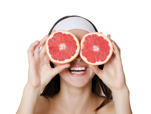 Маска против морщин с грейпфрутом
